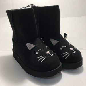 New Size 7 childs boots black  Cat black boots